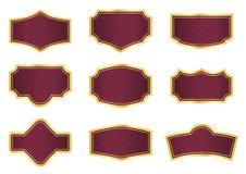 Rote Rebekennsätze mit Weinlesebeschaffenheit Lizenzfreies Stockfoto