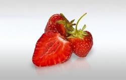 Rote reife Erdbeeren Stockfotografie