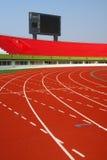 Rote Rennenspur Stockfoto