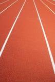 Rote Rennenspur Stockfotografie