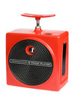 Rote Retro- 8 Spur Boombox Stockbild