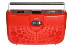 Rote Retro- 8 Spur Boombox Lizenzfreie Stockbilder