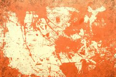 Rote Retro- alte Farbe auf dem Stahlmuster Stockfotografie