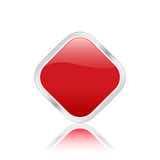 Rote rhomb Ikone Lizenzfreies Stockbild