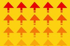 Rote Richtungspfeile Stockbilder