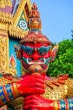 Rote riesige Statue Stockfotografie