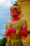Rote riesige Statue Stockfoto