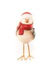 Rote Robin-Weihnachtsverzierung Stockfotografie
