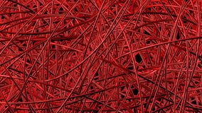 Rote Rohre machen dichtes abstraktes Netz Stockbilder