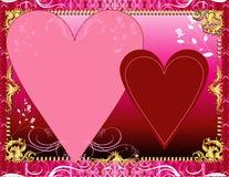 Rote rosafarbene Schablone Lizenzfreie Stockfotos