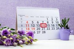 Rote Rose 14. Februar Kennzeichen Lizenzfreies Stockfoto