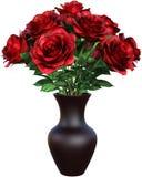 Rote Rose Flowers, Rosen, lokalisiert Lizenzfreies Stockfoto