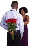Rote Rose-Paare Stockfotografie