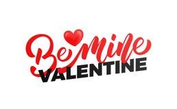 Rote Rose Seien Sie Bergwerk-Valentinsgrußtypographie mit glattem Herzen Willkommen zu meinem Portefeuille Lizenzfreies Stockbild