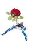 Rote Rose und Baumschere Lizenzfreies Stockbild