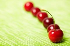 Rote süße Kirschen Stockfotografie