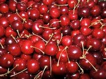 Rote süße leckere saftige Kirsche Stockfoto