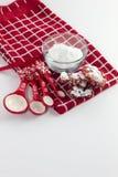 Rote Samt-Plätzchen für Weihnachten lizenzfreies stockbild