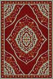 Rote Schablone für Teppich stock abbildung
