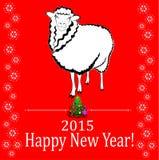 Rote Schafe Lizenzfreies Stockbild