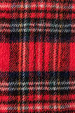 Rote Schalflanellgewebe-Hintergrundbeschaffenheit stockfotografie