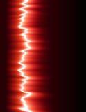 Rote Schallwelle Stockfotografie