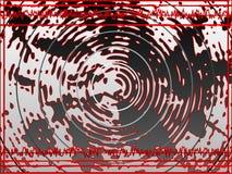 Rote Schallwellen Stockfoto