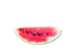 Rote Scheiben der Wassermelone auf Isolatweißhintergrund Stockfotografie