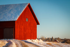 Rote Scheune Stockfoto