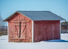 Rote Scheune Stockfotografie