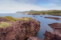 Rote Schieferklippen, Neufundland und Labrador, Kanada stockfoto