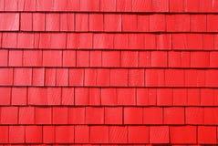Rote Schindeln Stockfotografie