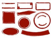 Rote Schmutztintenstempel lizenzfreie abbildung