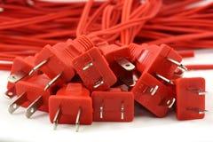 Rote Schnüre Lizenzfreie Stockfotografie