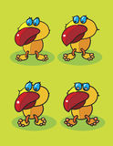 Rote Schnabelvögel Stockfotografie