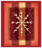 Rote Schneeflocke Stockbild