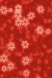 Rote Schneeflocke Stockfotografie