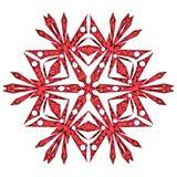 Rote Schneeflocke Lizenzfreies Stockbild