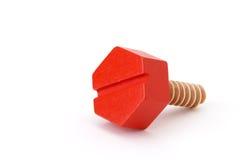 Rote Schraube Lizenzfreie Stockbilder