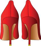 Rote Schuhe Lizenzfreies Stockbild
