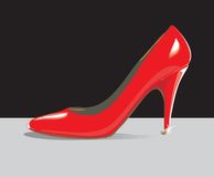 Rote Schuhe lizenzfreie abbildung