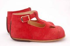 Rote Schuhe für Kinder Stockbild