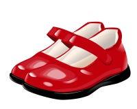 Rote Schuhe für Mädchen Stockfoto