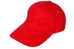 Rote Schutzkappe stockfotos