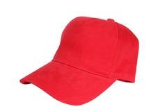 Rote Schutzkappe Stockfoto