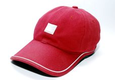 Rote Schutzkappe lizenzfreie stockfotografie
