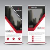 Rote Schwarze rollen oben Geschäftsbroschürenflieger-Fahnendesign, geometrischen Hintergrund der Abdeckungsdarstellungs-Zusammenf Lizenzfreies Stockfoto