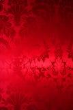 Rote Seide mit schöner Abbildung Lizenzfreie Stockfotografie