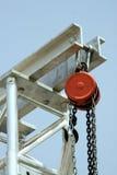 Rote Seilrolle lizenzfreie stockfotografie