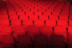 Rote Sitzöffentlich Halle Stockbild